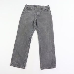Vintage Dickies Spell Out Distressed Jeans Gray 34